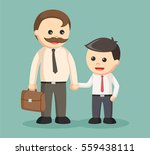 dad and son dressed as... | Shutterstock .eps vector #559438111