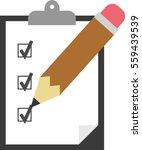vector black clipboard with... | Shutterstock .eps vector #559439539