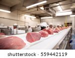 thick cuts of raw pork beef on... | Shutterstock . vector #559442119
