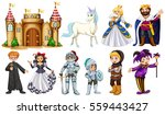 different characters in fairy... | Shutterstock .eps vector #559443427
