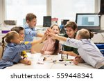 education  children  technology ... | Shutterstock . vector #559448341