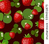 seamless pattern with strawberry | Shutterstock .eps vector #559451875