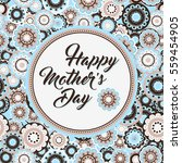 happy mothers day greeting card.... | Shutterstock .eps vector #559454905