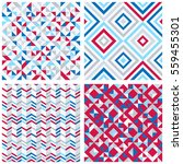 set of four abstract geometric... | Shutterstock .eps vector #559455301