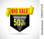 sale banner. vector... | Shutterstock .eps vector #559457179
