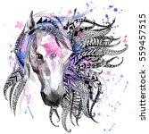 Horse. Animal Head Print For...