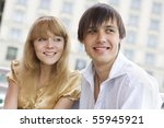 portrait of lovely couple in... | Shutterstock . vector #55945921