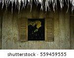 wooden window village life... | Shutterstock . vector #559459555