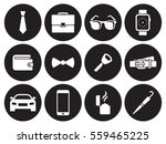 man accessories icons. white on ... | Shutterstock .eps vector #559465225