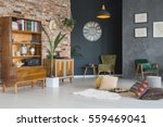 cozy living room with stylish... | Shutterstock . vector #559469041