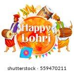 illustration of happy lohri... | Shutterstock .eps vector #559470211