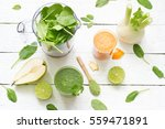 fruits  vegetables  smoothie ... | Shutterstock . vector #559471891
