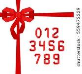paper folded alphabet in... | Shutterstock .eps vector #559473229