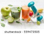 fruits  vegetables  juice ... | Shutterstock . vector #559473505