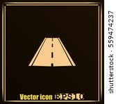road icon  vector | Shutterstock .eps vector #559474237