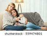 beautiful woman hugging... | Shutterstock . vector #559474801