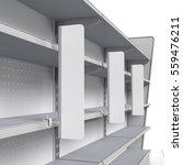 set of empty shelves with shelf ... | Shutterstock . vector #559476211
