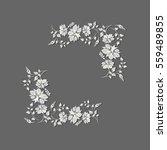 vector flower frame | Shutterstock .eps vector #559489855