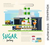 sugar factory. from cane to... | Shutterstock .eps vector #559499434