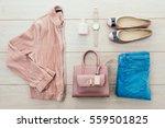 beautiful casual woman fashion... | Shutterstock . vector #559501825
