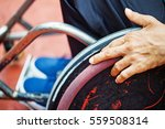 closeup of a hand on a wheel of ... | Shutterstock . vector #559508314