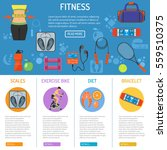 fitness and gym infographics... | Shutterstock .eps vector #559510375