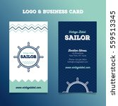 sailor logo and business card... | Shutterstock .eps vector #559513345