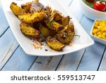 Fried Potatoes Grill Spices...