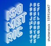 isometric 3d font  three... | Shutterstock .eps vector #559514647