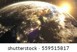 earth sunshine at east asia... | Shutterstock . vector #559515817