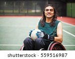 handsome determined disabled... | Shutterstock . vector #559516987