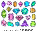 gems patch badges set. doodle... | Shutterstock .eps vector #559520845