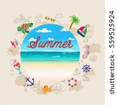 background on the marine theme  ... | Shutterstock .eps vector #559525924