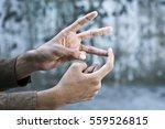british sign language  bsl  a... | Shutterstock . vector #559526815