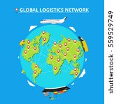 global logistics network. set... | Shutterstock .eps vector #559529749