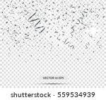 silver confetti. vector eps10....
