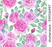 watercolor flower pattern | Shutterstock . vector #559536997