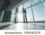 two young businessmen are... | Shutterstock . vector #559542379