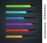 color striped progress bar... | Shutterstock . vector #559544341