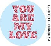 a confession you are my love ... | Shutterstock .eps vector #559545445