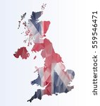 polygonal map of great britain   Shutterstock .eps vector #559546471