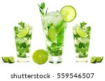 mojito isolated on white... | Shutterstock . vector #559546507