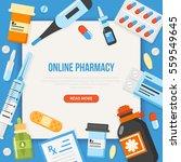 online pharmacy concept banner... | Shutterstock .eps vector #559549645
