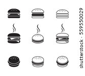 hamburger icons set. black on a ... | Shutterstock .eps vector #559550029