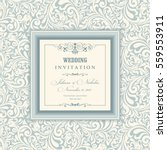wedding invitation cards in an... | Shutterstock .eps vector #559553911