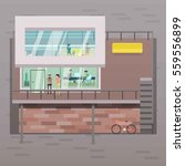 coordinated work in friendly...   Shutterstock .eps vector #559556899