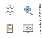 science lab color icons set.... | Shutterstock .eps vector #559557109