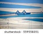 shaikh isa causeway in bahrain...   Shutterstock . vector #559558351
