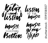 relax and listen. music in my... | Shutterstock .eps vector #559558507