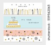 happy birthday party banners... | Shutterstock .eps vector #559562065